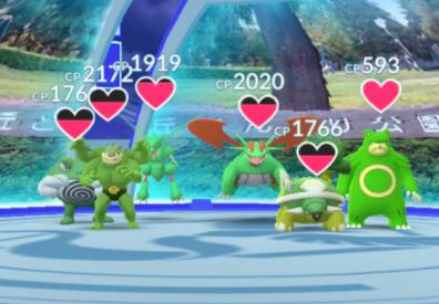 色違い緑ポケモンジム